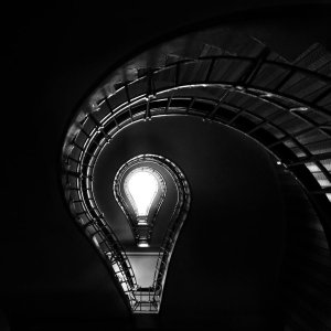lightbulb stairs